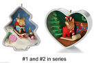 2012 and 2013 HALLMARK COOKIE CUTTER CHRISTMAS ORNAMENTS 1 & 2,  CUTE!