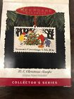 HALLMARK Keepsake 1994 U.S. CHRISTMAS STAMPS ORNAMENT & STAND Vintage COPPER New