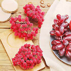 40Pcs Artificial Red Holly Berry Berries Home Garland Christmas Decoration p2