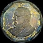 FINEST & ONLY 1888 GROVER CLEVELAND NGC MS65 RED BANDANA MEDAL TONED 0 AT PCGS