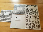 Creative Memories Lot of 5 Alphabet Numbers Stickers White Brown Black
