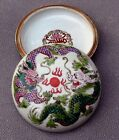 Superb Hand Painted Dragons 2pc Covered Bowl Chinese Porcelain Makers Mark Ex Cd