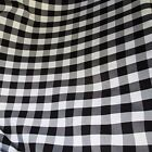 10 YARDS BLACK WHITE 60 Wide Poly Poplin Gingham Fabric tablecloth