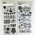 Recollections Lot Of 2 Clear Stamp Sets Thank You  Celebration Phrases Sayings
