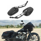 Black Motorcycle Rearview Side Mirrors For Harley Road Glide Street Bob FXDB HG