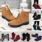 Women Winter Warm Suede Ankle Snow Boots Thicken Ski Flat Casual Shoes New