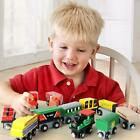 Wooden Train Set 12 PCS Magnetic Engines Deluxe Toys for Kids Toddler Boys Girls