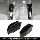 2 X Center Console Organizer Tray Armrest Storage Box For Jeep Wrangler JK 11 17