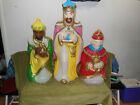 Vintage Outdoor Christmas Nativity 3 Wisemen Set Blow Molds Yard Ornaments Decor