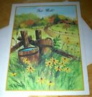 Harvest Harmony Get Well Greeting Card Country Scene Old Barn Artist Signed