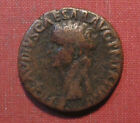 42 50 AD ANCIENT ROMAN BRONZE AE As CLAUDIUS LARGER COIN EXCELLENT CONDITION