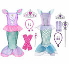 Kids Girl Little Mermaid Ariel Princess Cospaly Dress Up Costume 3 8 T Crown