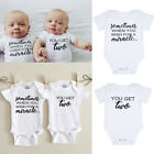 US Infant Twins Baby Boy Girl Clothes Romper Bodysuit Matching Outfit 0 18M
