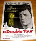A DOUBLE TOUR 1959 Claude Chabrol Nouvelle Vague Rare Original French 2 sheet