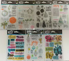 Illustrated Faith Clear Acrylic Stamps Bible Journaling Christmas Love Joy Peace