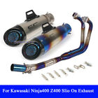 Exhaust Muffler Pipe Front Middle Pipe Link System For Kawasaki Ninja400 Z400