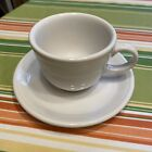 FIESTA Fiestaware White Cup & Saucer - Homer Laughlin Co. USA