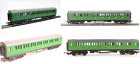 HO  OO Scale Southern Railway Coaches x4 SR Green Brake Coach  3 Composite
