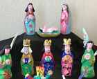 Vicente Hernandez Vasquez Mexico Hand Carved Folk Art Christmas Nativity Set 13