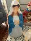 Vintage 26 Empire Blow MoldMary Christmas Nativity Lighted Outdoor Decor