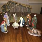 J Puig Nativity Set Made in Spain 8 Pieces Hand Made Hand Painted