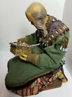 Vintage Western Germany WAX Nativity Figure WISE MAN MAGI w Gift BEADS Jewels