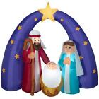 Home Accents Holiday 6 ft Pre Lit Life Size Airblown Inflatable Nativity Scene