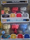 Chrome LOT Wonder Woman & The Flash Funko POP Vinyl 3-pack Exclusives DC