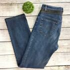 VERSACE Womens Vintage Jeans Leather Accent Authentic Designer Sz 32 EUC Fab
