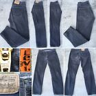 Vintage Levis 505 Jeans Faded Black Or Gray Made In USA Orange Tab 35 32