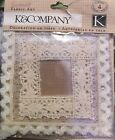 K  Company Scrapbooking Handmade Fabric Art Lace Frames New