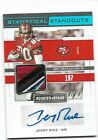 Jerry Rice 2019 Rookies & Stars Statistical Standouts Autograph Card 1 Of 1PWM