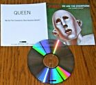 QUEEN- WE ARE THE CHAMPIONS(RAW SESSIONS VERSION)- U.K. 1-TRACK ADVANCE PROMO CD