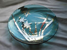 Annieglass Papyrus large 135 platter signed numbered in ocean blue