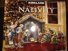 Kirkland Nativity set Creche De Noel with crystal and gold details Christmas