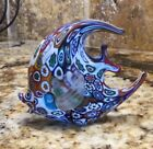 BEAUTIFUL Millefiori Art Glass Angel Fish