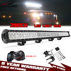 Dual Row LED Light Bar Combo Work Lights ATV SUV Offroad 39inch w Rocker Wiring