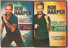 NEW 2 Bob Harper DVD lot Beginners Weight Loss Transfirmation Total Body workout
