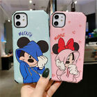 Cute Disney Silky Mickey Minnie Case for iPhone 11 Pro Max 7 8 XS Soft Defender