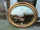 Two Pieces of Glass Painting Landscape