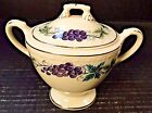 Homer Laughlin Eggshell Georgian Grapes Leaves Sugar Bowl with Lid Excellent