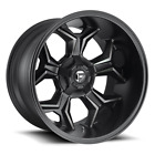 4 20x10 Fuel Gloss Matte Black Avenger Wheel 6X135 6X1397 For Ford GM Jeep