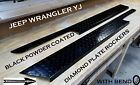 JEEP Wrangler YJ Black Powder Coated Diamond plate Rocker Panels with 90bend