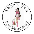 30 THANK YOU FOR SHOPPING 15 INCH LABELS ROUND STICKERS