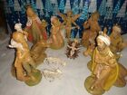 VINTAGE ITALY FONTANINI NATIVITY SET 13 PC65 Scale used condition