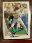 2015 Leaf Anniversary Ozzie Smith 1990 Leaf Buyback HOF Auto #'d to 39