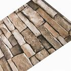 Brown Stone Contact Paper Self Adhesive Film Peel and Stick Wallpaper Dcor 3D