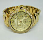 Ladies Gold Plated Michael Kors Parker Chronograph Model MK-5354