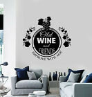 Vinyl Wall Decal Quote Old Wine Friends Improve With Age Bar Stickers g2258