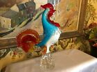 Italian Venetian Murano Colorful a Glass Rooster Found in France Vintage